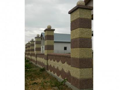 Gard spalat marron prugna/crem panouri solzi Spalat Gard modular din beton
