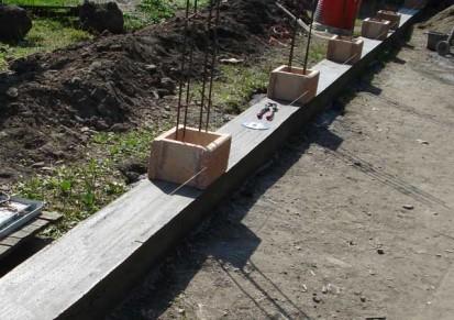Temelie gard Spalat Gard din beton