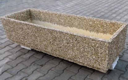 Jardiniere din beton / Jardiniera piatra spalata
