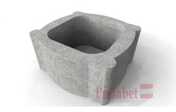 Jardiniere din beton / Jardiniere contrataluz