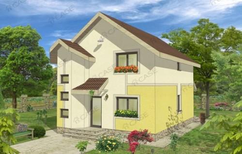 Proiect casa cu mansarda NOICONSTRUIM - Poza 1