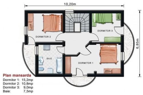 Proiect casa cu mansarda NOICONSTRUIM - Poza 2