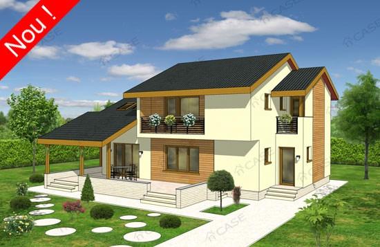 Lucrari de referinta proiect casa cu mansarda noiconstruim for Proiecte case cu garaj si mansarda