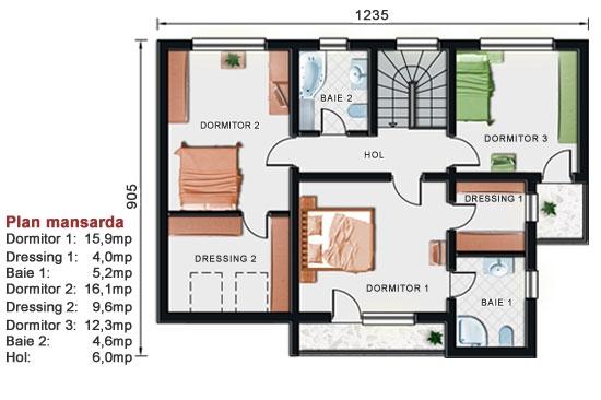 Proiect casa cu mansarda NOICONSTRUIM - Poza 3