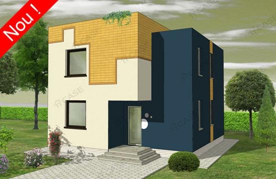 3proiect casa moderna 74 mp cu tot cu garaj proiecte case