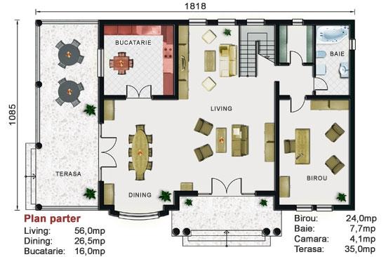 Proiect vila cu etaj NOICONSTRUIM - Poza 3