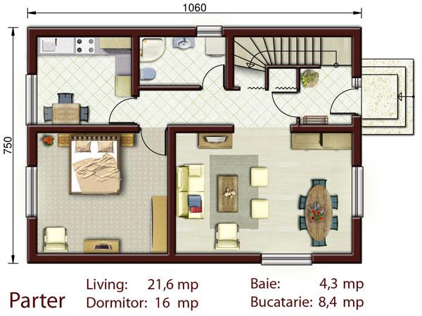 Casa mica cu mansarda NOICONSTRUIM - Poza 2