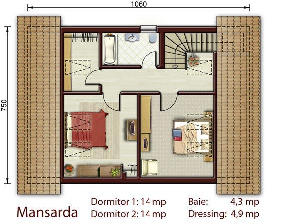 Casa mica cu mansarda NOICONSTRUIM - Poza 3