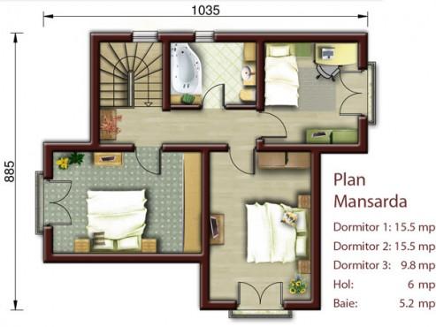 Vila cu mansarda NOICONSTRUIM - Poza 3