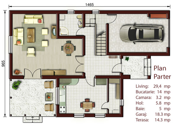 Vila cu mansarda NOICONSTRUIM - Poza 2
