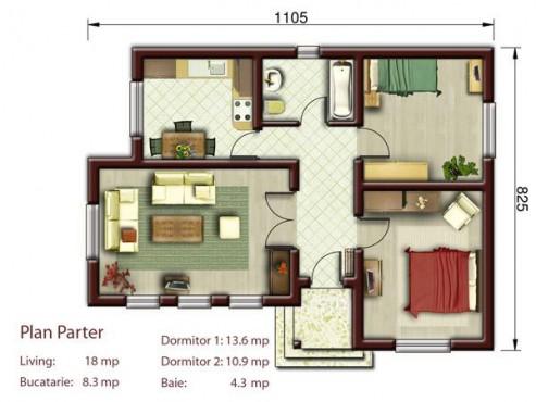 Proiect casa mica S<100mp NOICONSTRUIM - Poza 2