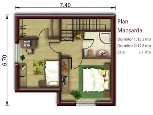 Proiect casa mica S<100mp NOICONSTRUIM - Poza 3