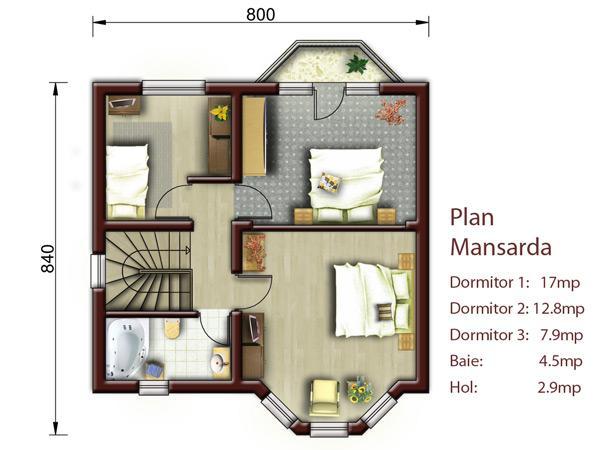 Proiect casa S = 100-150mp NOICONSTRUIM - Poza 3