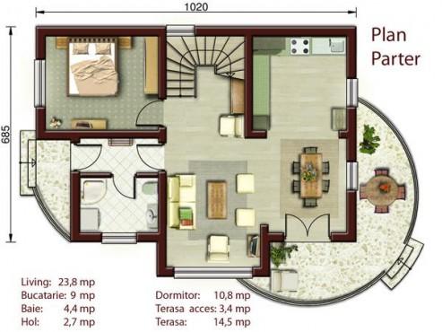 Proiect casa S = 100-150mp NOICONSTRUIM - Poza 2