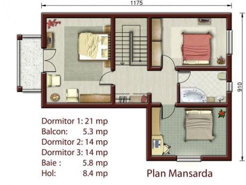 Proiect vila cu suprafata > 150mp NOICONSTRUIM - Poza 3