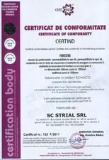Certificat ferestre STRIAL