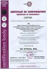 Certificat usi STRIAL