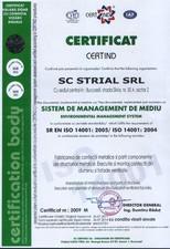 Certificat ISO 14001 STRIAL