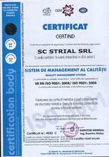 Certificat ISO 9001 STRIAL