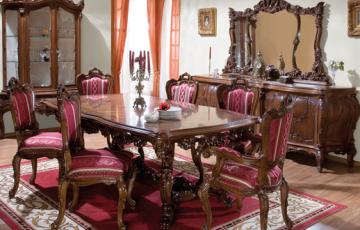 Mobilier din lemn masiv pentru camere de zi  Mobila pentru sufragerieoferita de Casa Mobila Simexeste realizata din lemn masiv de cea mai buna calitate, lemn sculptat manual cu pasiune pentru frumos.