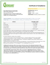 Certificat GreenGuard Indoor Air Quality ARPA