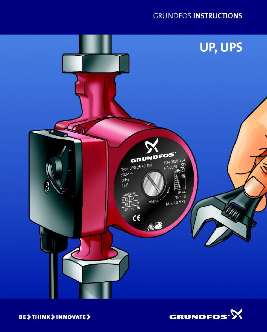instructiuni montaj utilizare instructiuni de utilizare up ups up ups b n grundfos pompe. Black Bedroom Furniture Sets. Home Design Ideas