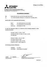 Declaratie de conformitate pompa de caldura MITSUBISHI ELECTRIC