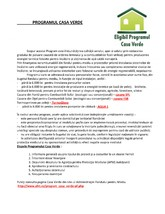 Programul Casa Verde TERMOSOLARE