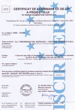 Certificat MCL 50-250 THERMOSTAHL