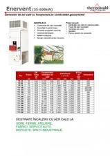 Generator de aer cald cu functionare pe combustibil gazos/lichid THERMOSTAHL