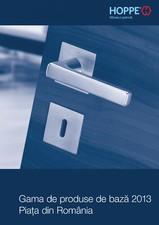 Manere pentru usi si fereastre - Gama de produse de baza 2013 HOPPE