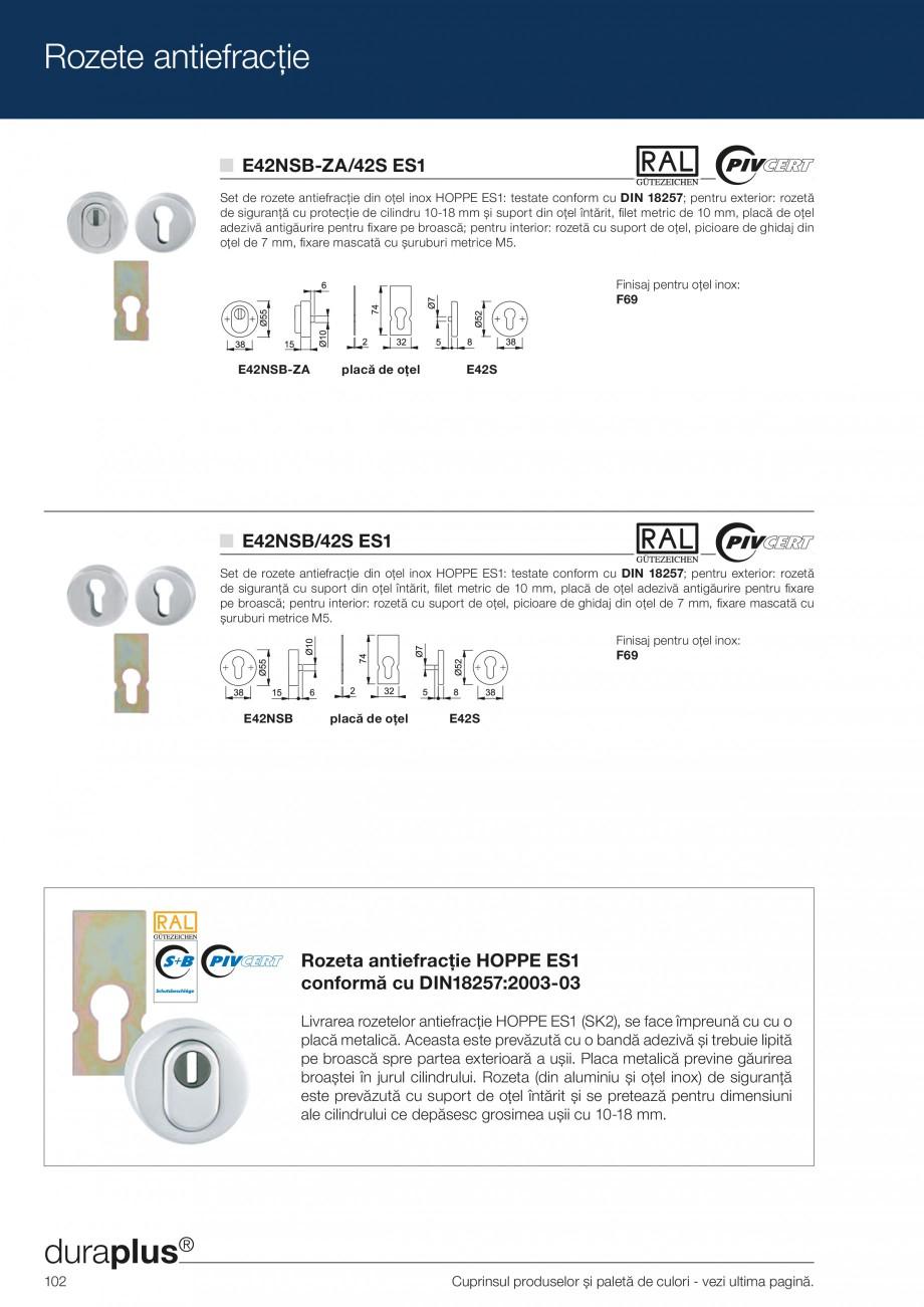Pagina 102 - Manere pentru usi si fereastre - Gama de produse de baza 2013 HOPPE Acapulco M1558, Las...