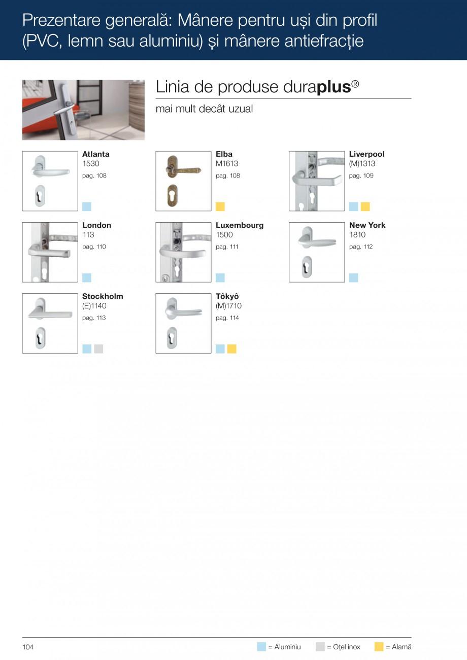Pagina 104 - Manere pentru usi si fereastre - Gama de produse de baza 2013 HOPPE Acapulco M1558, Las...