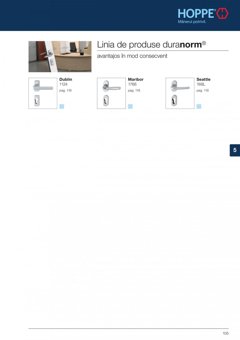 Pagina 105 - Manere pentru usi si fereastre - Gama de produse de baza 2013 HOPPE Acapulco M1558, Las...