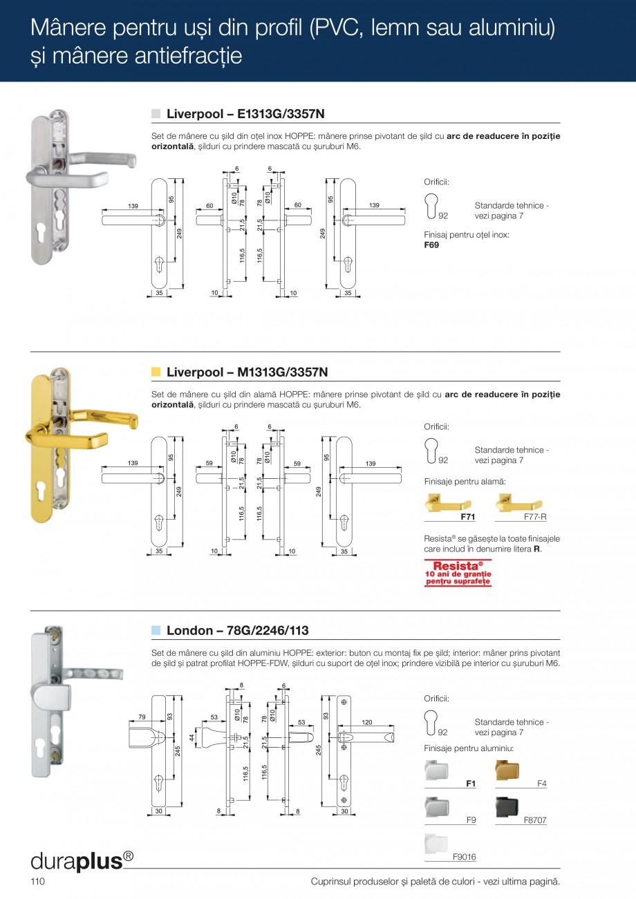 Pagina 110 - Manere pentru usi si fereastre - Gama de produse de baza 2013 HOPPE Acapulco M1558, Las...