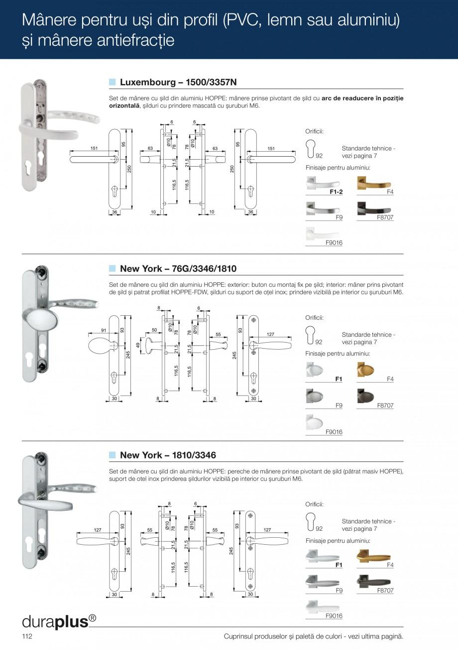 Pagina 112 - Manere pentru usi si fereastre - Gama de produse de baza 2013 HOPPE Acapulco M1558, Las...