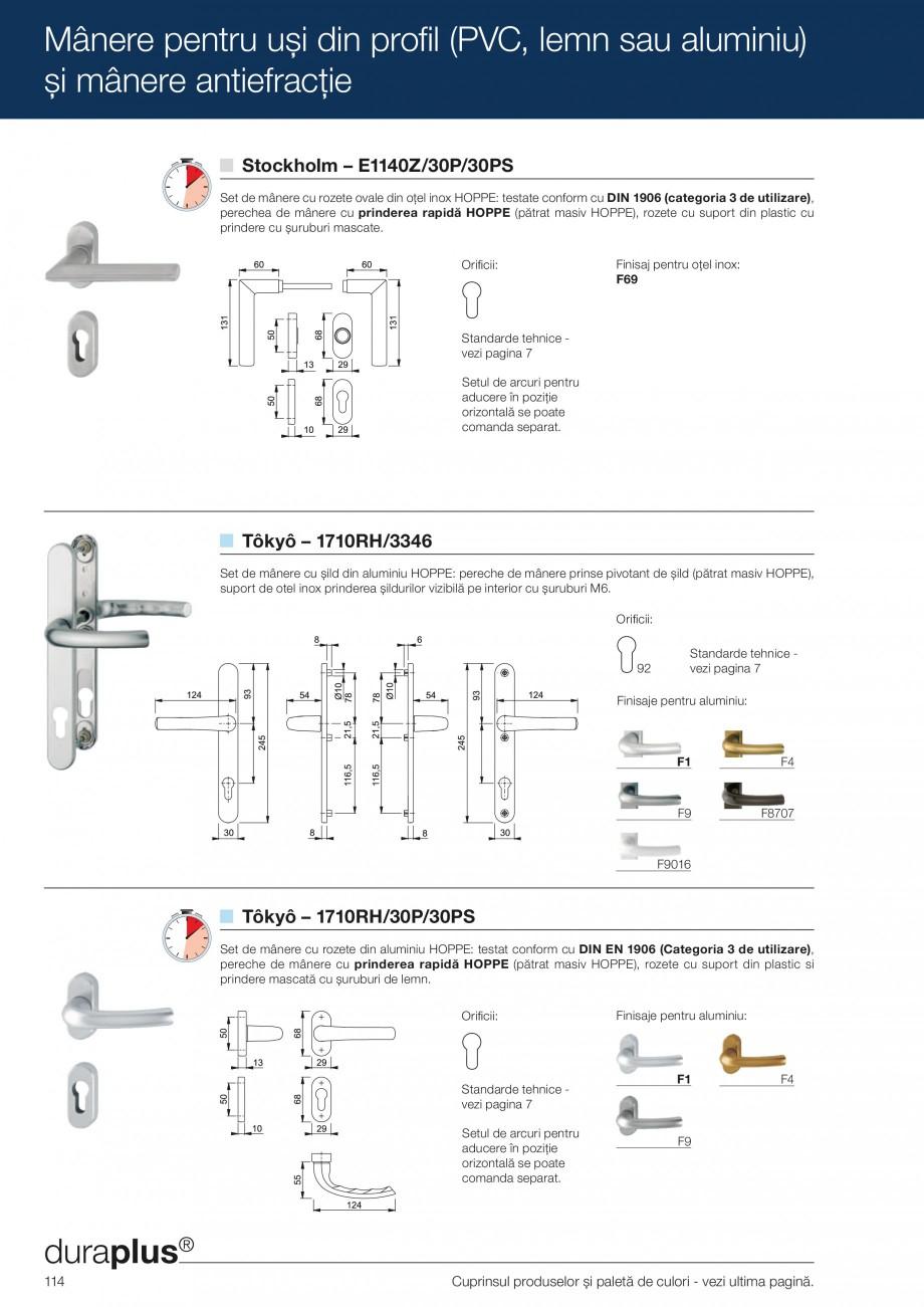Pagina 114 - Manere pentru usi si fereastre - Gama de produse de baza 2013 HOPPE Acapulco M1558, Las...