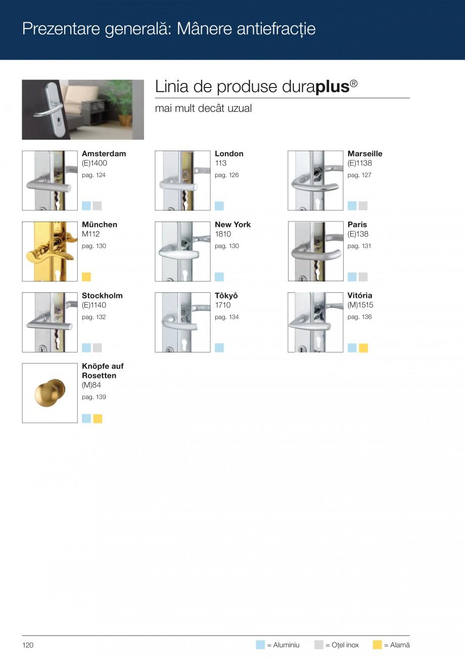 Pagina 120 - Manere pentru usi si fereastre - Gama de produse de baza 2013 HOPPE Acapulco M1558, Las...