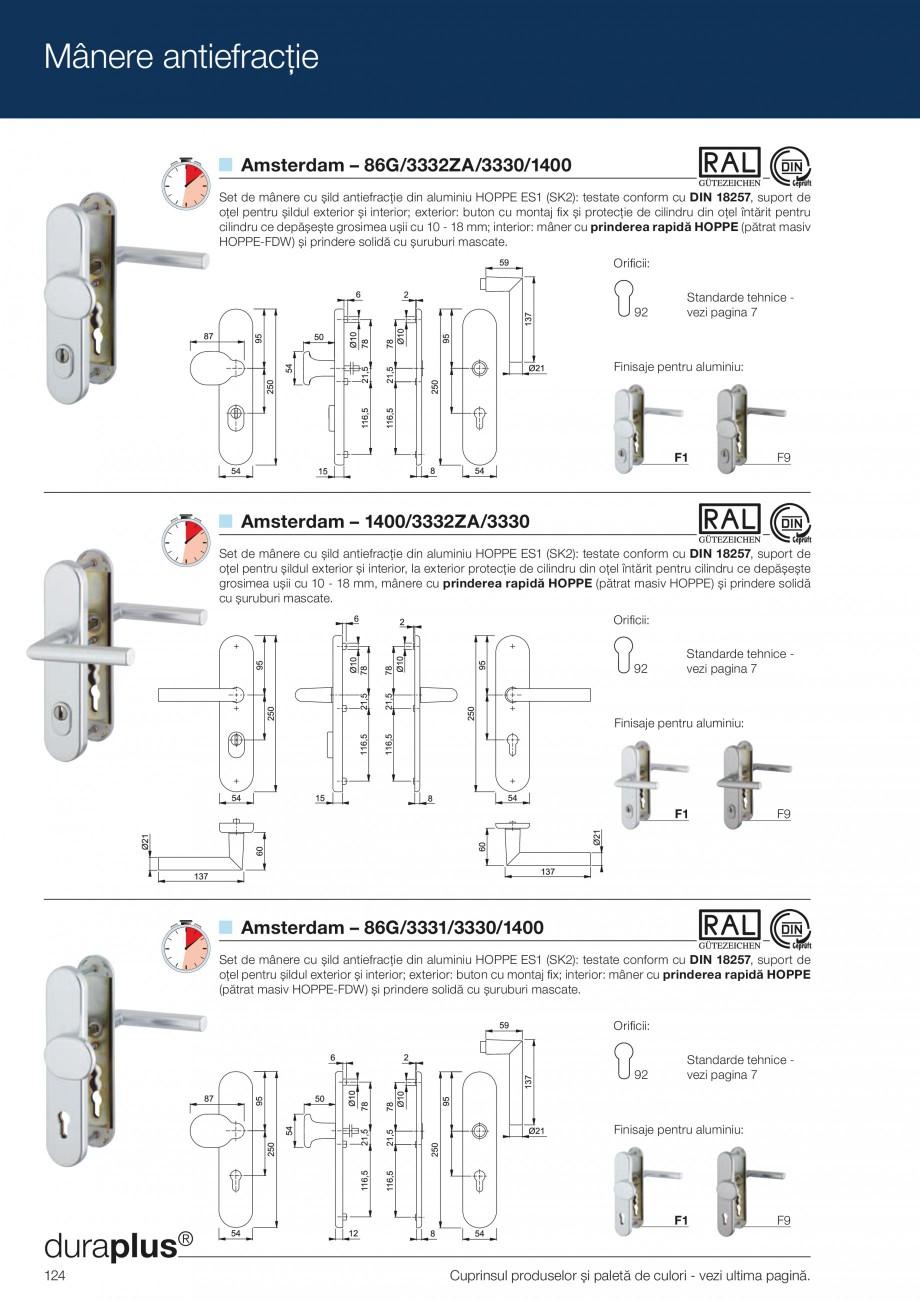 Pagina 124 - Manere pentru usi si fereastre - Gama de produse de baza 2013 HOPPE Acapulco M1558, Las...