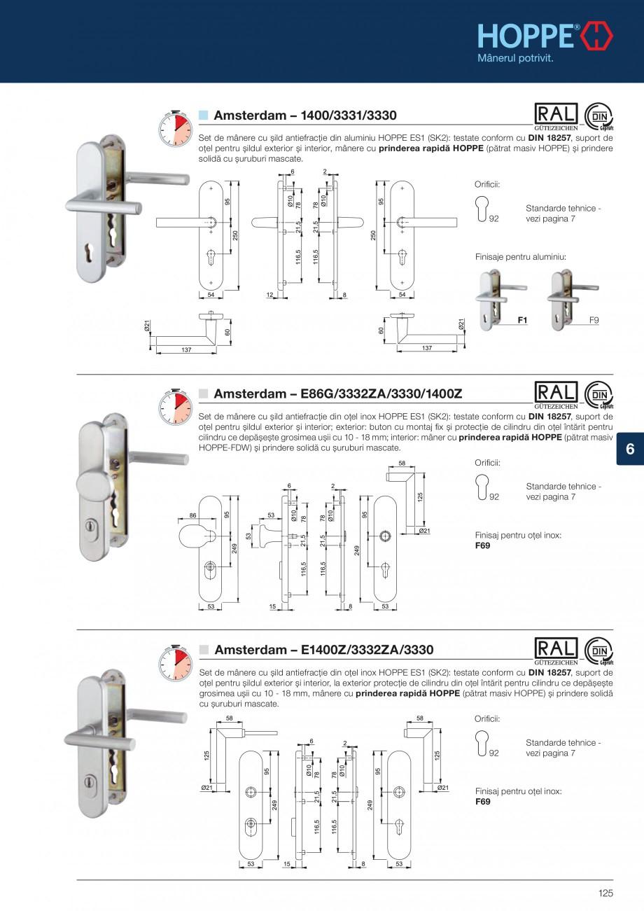 Pagina 125 - Manere pentru usi si fereastre - Gama de produse de baza 2013 HOPPE Acapulco M1558, Las...