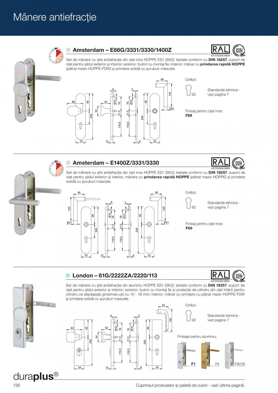 Pagina 126 - Manere pentru usi si fereastre - Gama de produse de baza 2013 HOPPE Acapulco M1558, Las...