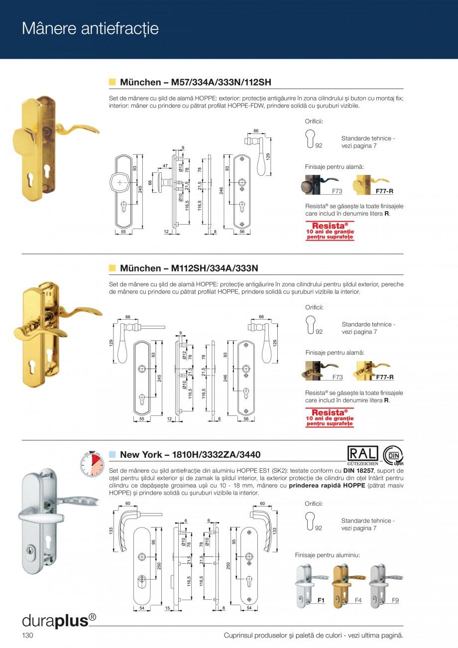 Pagina 130 - Manere pentru usi si fereastre - Gama de produse de baza 2013 HOPPE Acapulco M1558, Las...