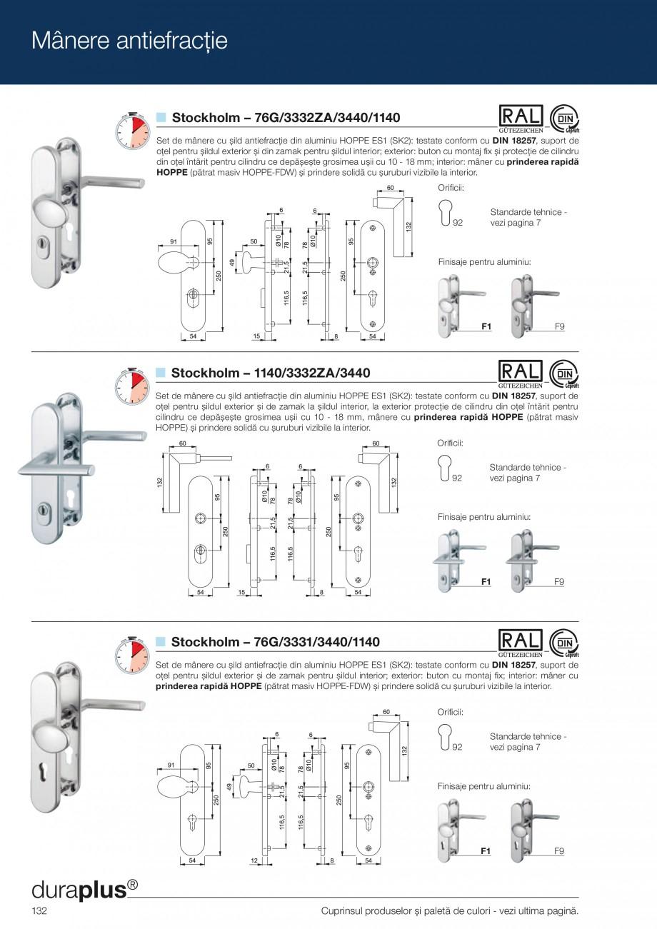Pagina 132 - Manere pentru usi si fereastre - Gama de produse de baza 2013 HOPPE Acapulco M1558, Las...