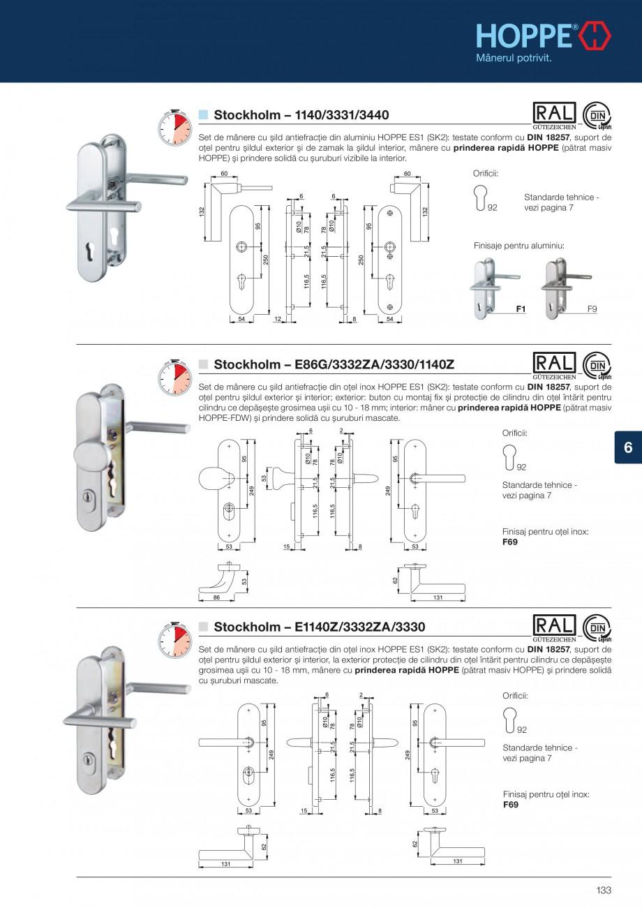 Pagina 133 - Manere pentru usi si fereastre - Gama de produse de baza 2013 HOPPE Acapulco M1558, Las...