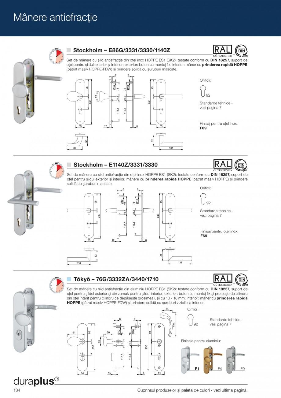 Pagina 134 - Manere pentru usi si fereastre - Gama de produse de baza 2013 HOPPE Acapulco M1558, Las...