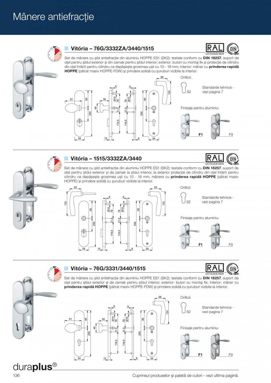 Pagina 136 - Manere pentru usi si fereastre - Gama de produse de baza 2013 HOPPE Acapulco M1558, Las...