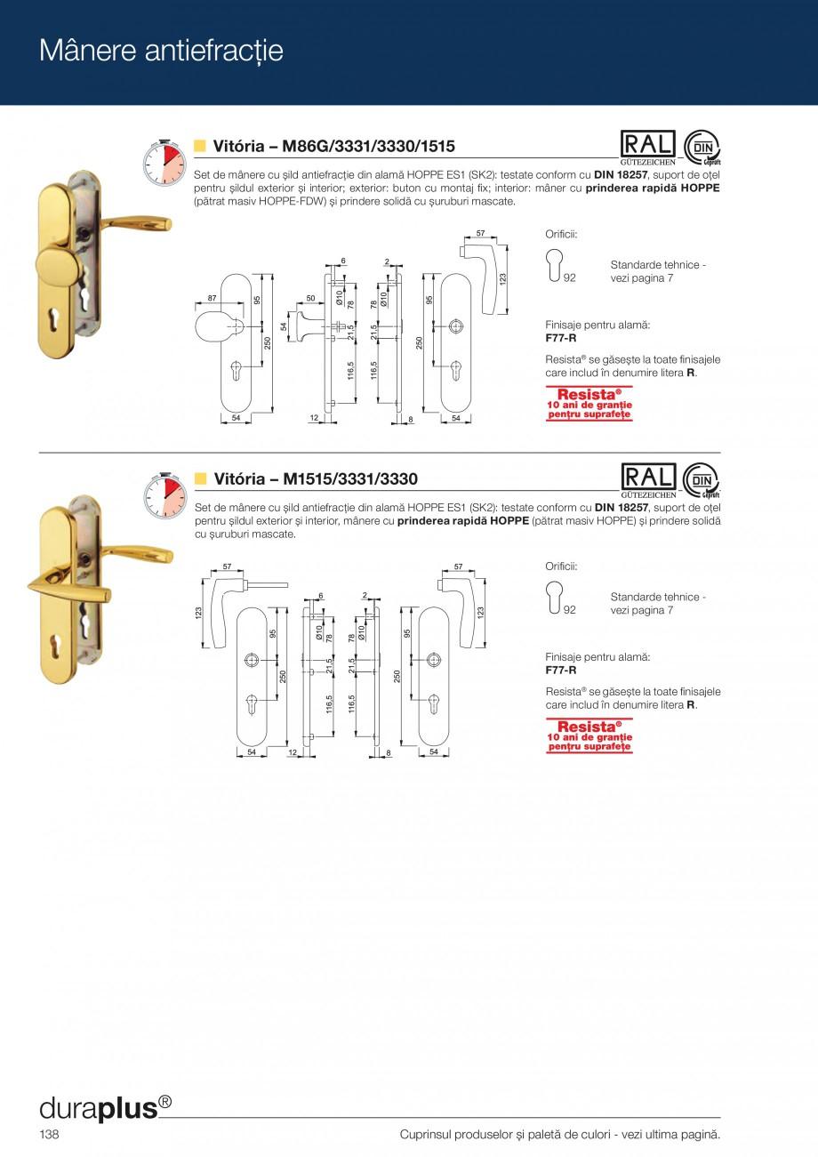 Pagina 138 - Manere pentru usi si fereastre - Gama de produse de baza 2013 HOPPE Acapulco M1558, Las...