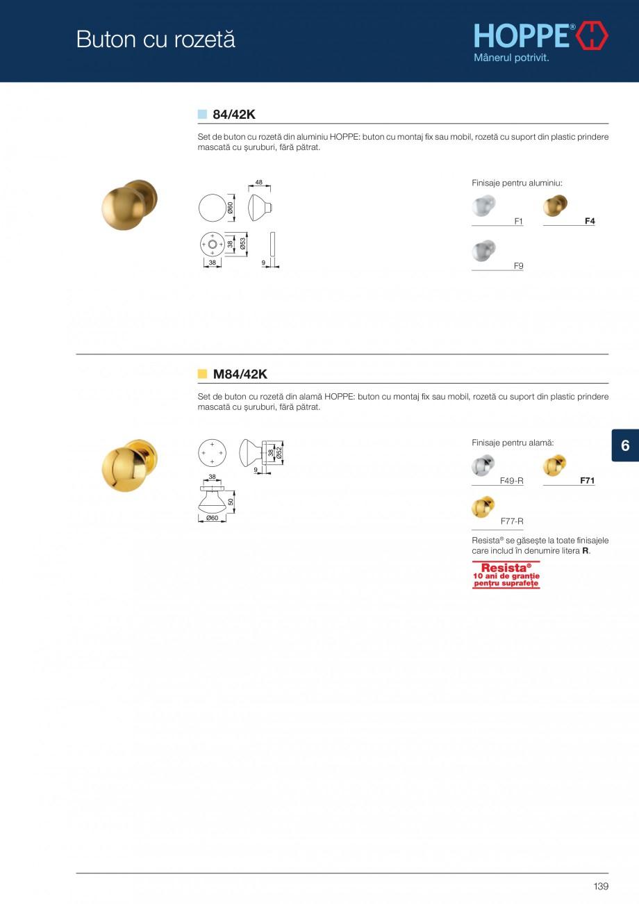 Pagina 139 - Manere pentru usi si fereastre - Gama de produse de baza 2013 HOPPE Acapulco M1558, Las...