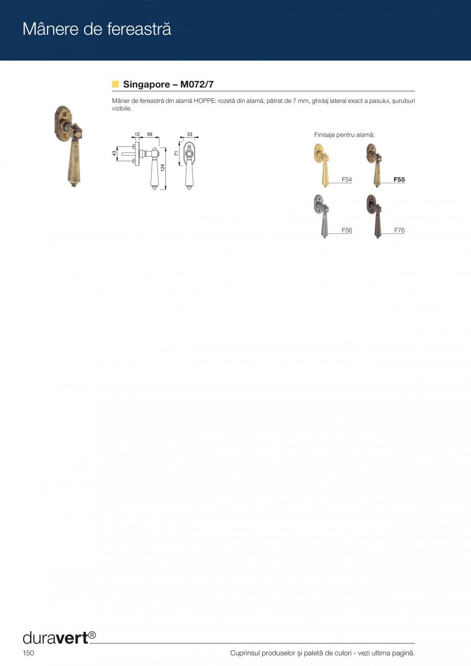 Pagina 150 - Manere pentru usi si fereastre - Gama de produse de baza 2013 HOPPE Acapulco M1558, Las...