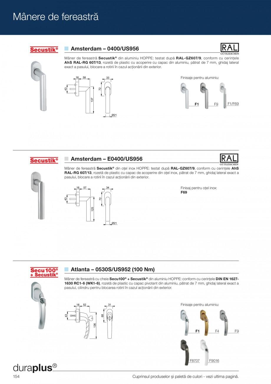 Pagina 154 - Manere pentru usi si fereastre - Gama de produse de baza 2013 HOPPE Acapulco M1558, Las...